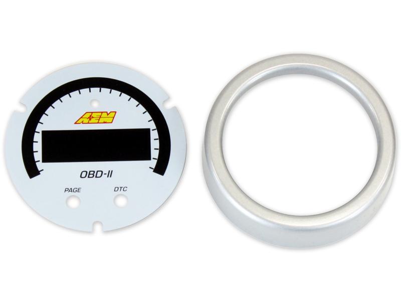 AEM X-Series OBDII Gauge Accessory Kit (Silver Bezel & White Faceplate)