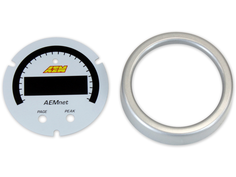 AEM X-Series AEMnet Can Bus Gauge Accessory Kit (Silver Bezel & White Faceplate)