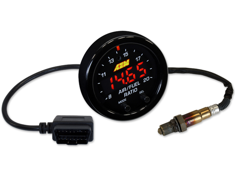 AEM X-Series Wideband UEGO Air/Fuel Ratio Sensor Controller Gauge OBDII Connectivity