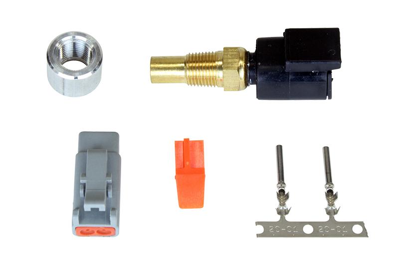 "AEM Water Temperature Sensor: 1/8"" NPT Male Thread, DTM-Style Connector"