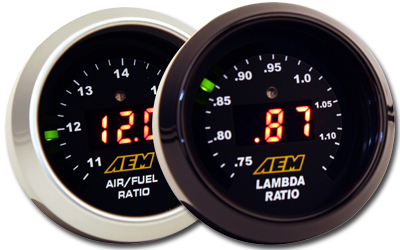AEM Digital Wideband UEGO Air/Fuel Ratio Gauge (With Bosch 4.9 LSU Sensor)
