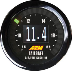 AEM Wideband Failsafe Gauge : Wideband Air/Fuel & Boost in One Gauge