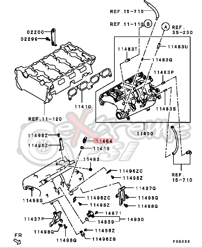 OEM Air Intake Temperature Sensor: Mitsubishi EVO X
