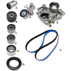 "Gates Complete ""Racing"" Timing Belt Kit (With Water Pump): Subaru 06-07 EJ25 WRX / 04-13 STI"
