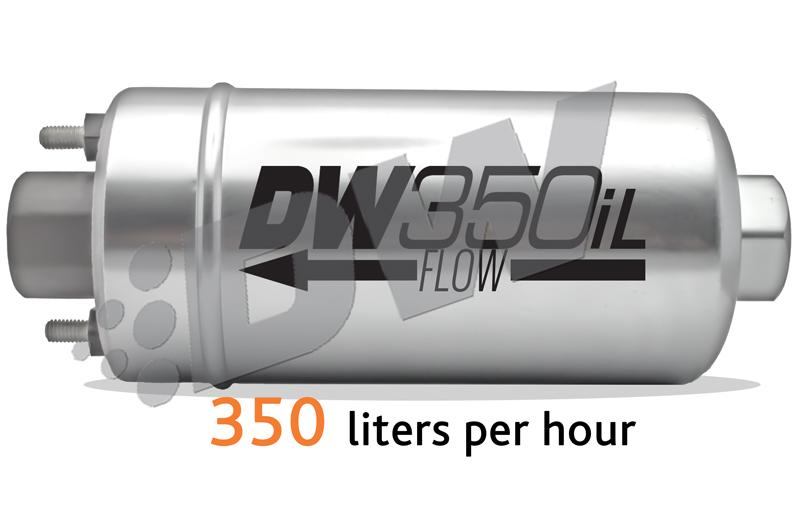 DeatschWerks DW350iL 350 LPH In-Line Fuel Pump : Universal Fitment