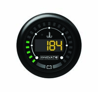 "Innovate Motorsports MTX-D Digital ""Dual-Function"" Gauge: Water Temperature (120-280 °F) & Battery Volt (6 - 25 VDC)"