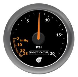 Innovate Motorsports MTX-A Analog Series Gauge: 29 inHG/20 PSI Vacuum/Boost Gauge