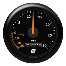 Innovate Motorsports MTX-A Analog Series Gauge: 29 inHG/30 PSI Vacuum/Boost Gauge
