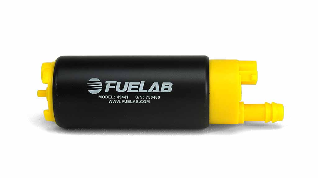 Fuelab High Ouput In Tank Electric Fuel Pump: 340 LPH Offset Inlet
