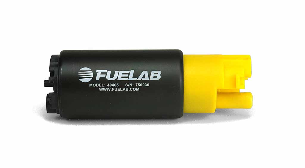 Fuelab High Ouput In Tank Electric Fuel Pump: 300 LPH In-Line Inlet (Compact)