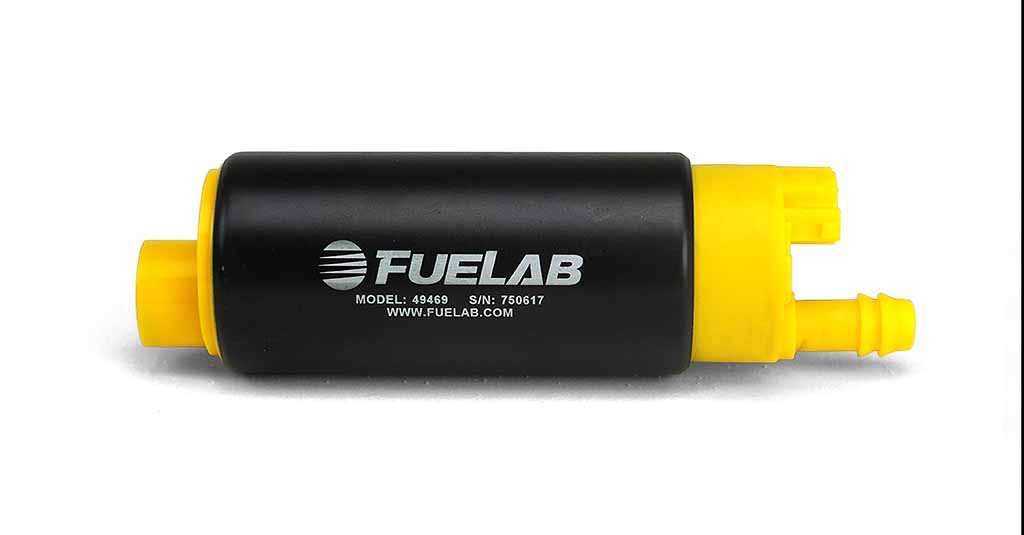 Fuelab High Ouput In Tank Electric Fuel Pump: 340 LPH Center Offset Inlet