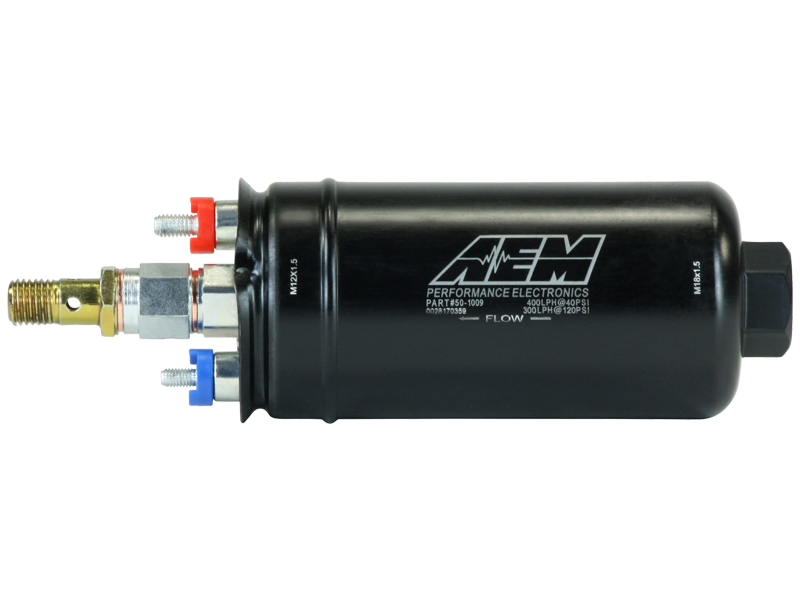AEM Metric High Flow In-Line Fuel Pump : 400 LPH