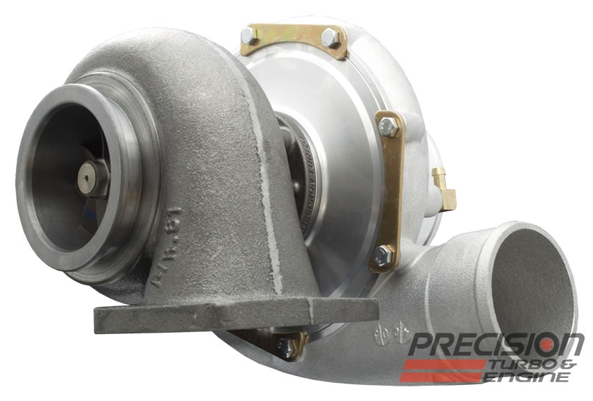 """Precision T & E T4 Inlet with 3 5/8"""" V-Band Discharge Turbine Housing : 66mm Turbine Wheel"""
