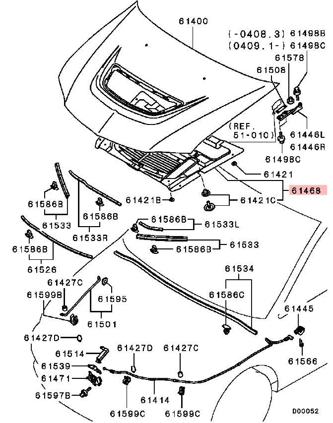 OEM Under Hood Insulator: Mitsubishi EVO VIII & IX