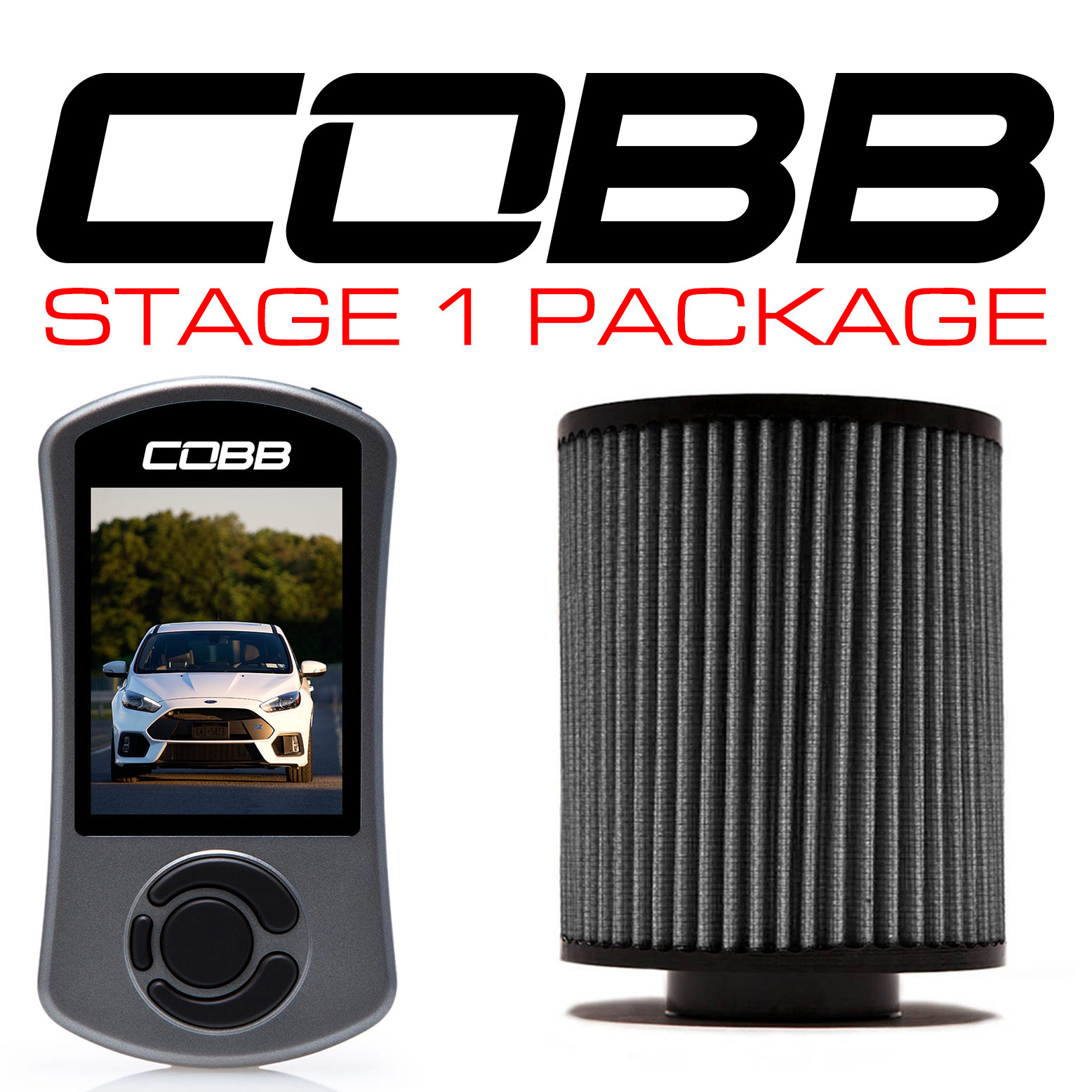 Cobb Tuning Stage 1 Power Package with V3: Ford Focus RS 2016+