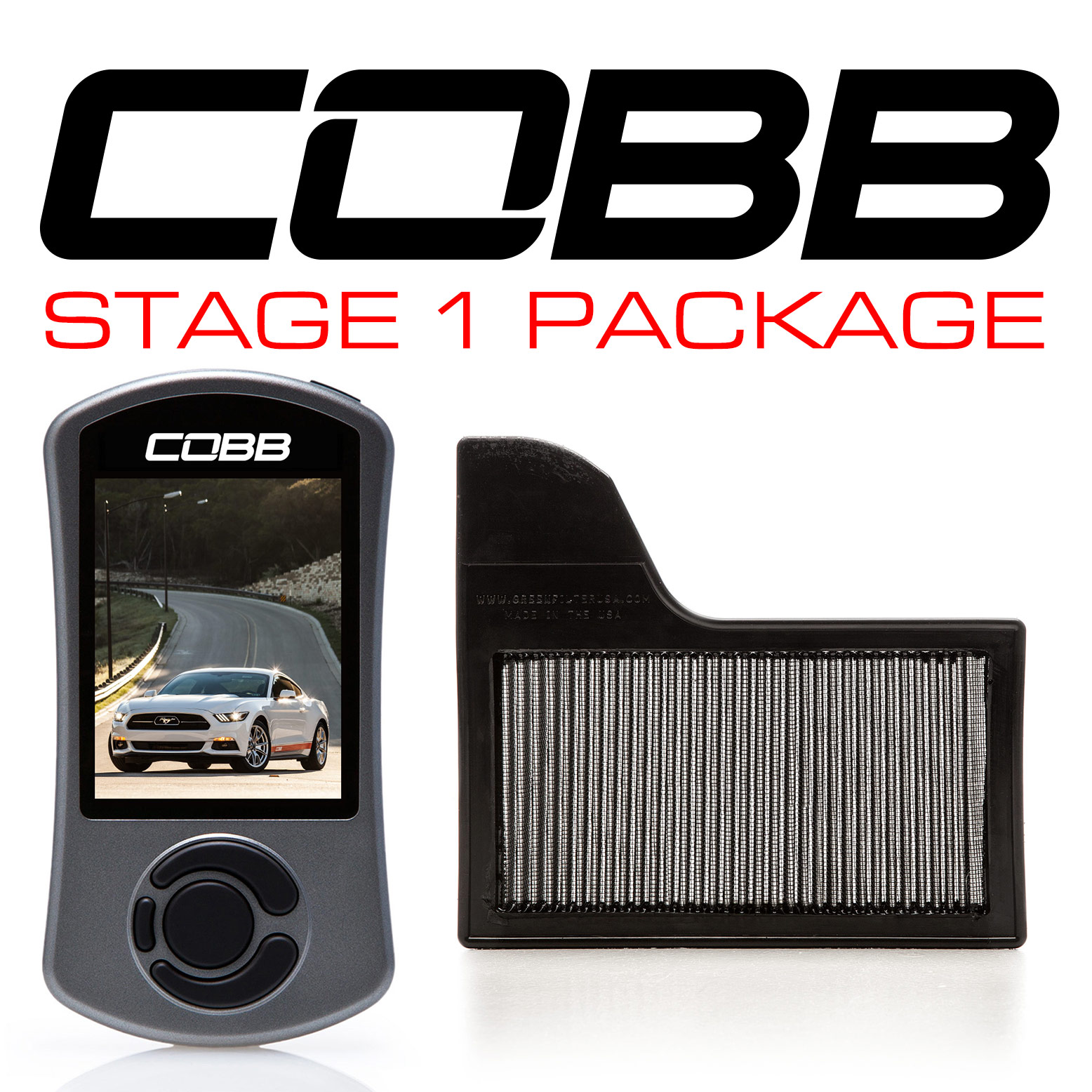 Cobb Tuning Stage 1 Power Package: Ford Mustang Ecoboost 2.3L 2015-2017