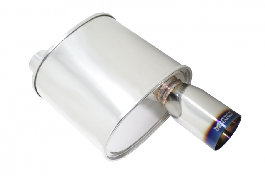 "Megan Racing F-RT Burnt Tip Muffler: 2.50"" Inlet"