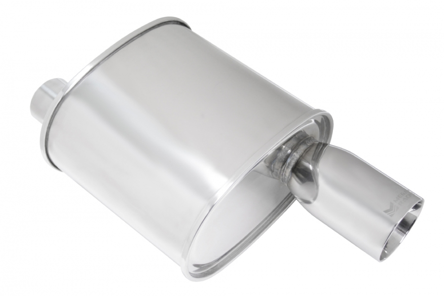 "Megan Racing F-RT Muffler: 2.50"" Inlet"