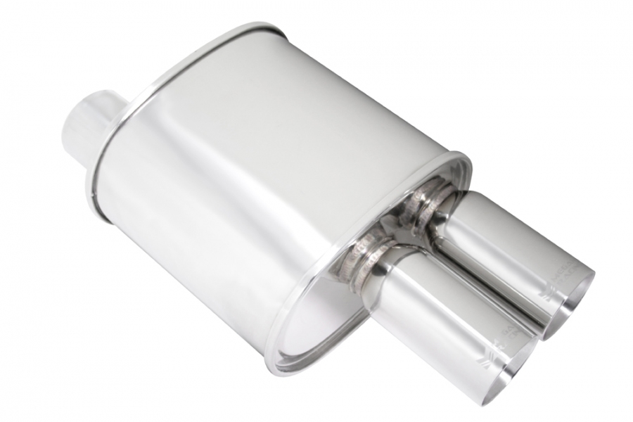 "Megan Racing F-RT Turbo Dual Tip Muffler: 3.00"" Inlet"