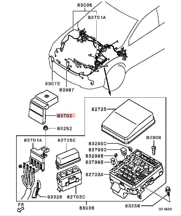 OEM Fusable Link Box Cover: Mitsubishi Evolution X 2008-2015 CZ4A