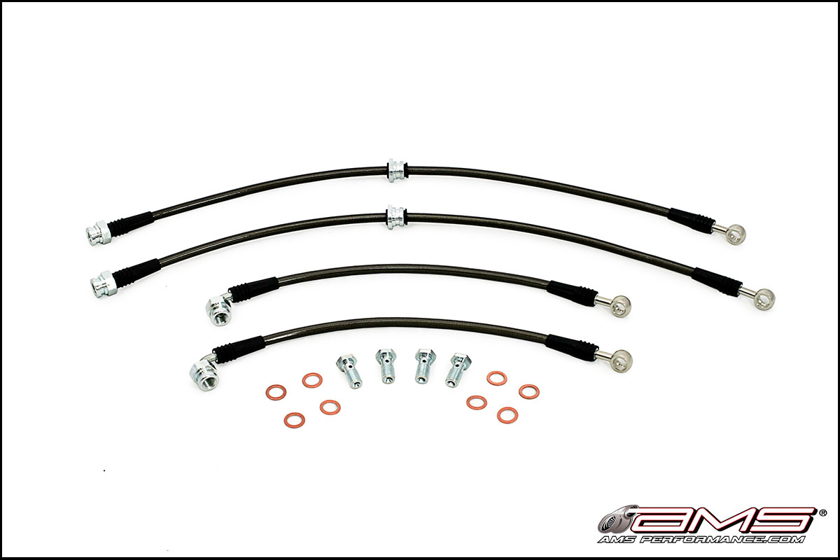 STOPTECH SS STAINLESS STEEL FRONT BRAKE LINES FOR 95-99 MITSUBISHI ECLIPSE