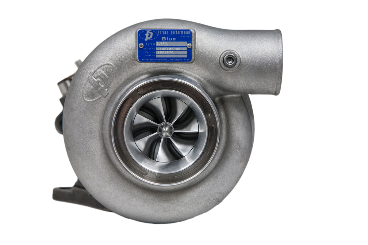"Forced Performance ""XR BLUE"" Ball Bearing Turbocharger: Subaru WRX 2002-07 & STi 2004-18"