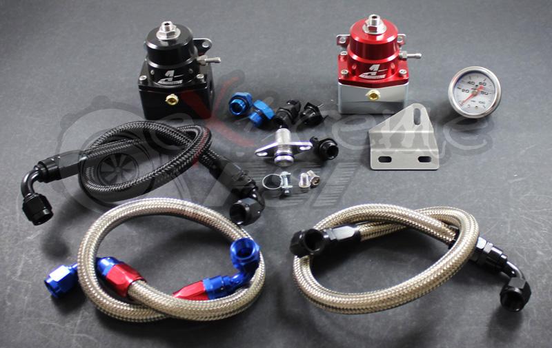 "Aeromotive ""A1000"" Complete Fuel Pressure Regulator Kit w/ Gauge (Version 2): Mitsubishi Eclipse 90-99"