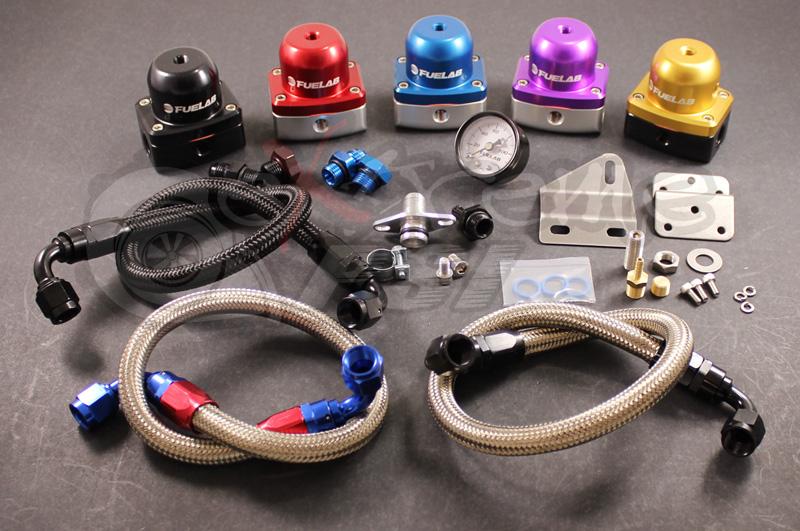 "FueLab ""515"" Complete Fuel Pressure Regulator Kit w/ Gauge (Version 2): Mitsubishi Eclipse 90-99 *SALE*"
