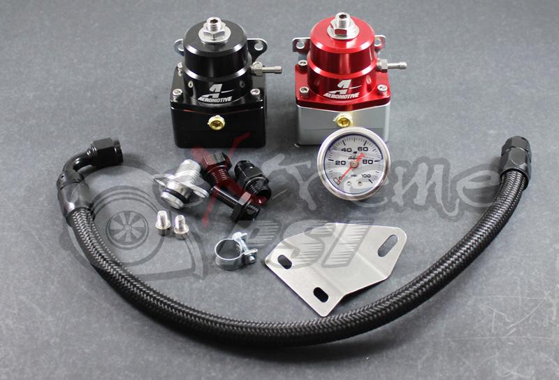 "Aeromotive ""A1000"" Complete Fuel Pressure Regulator Kit w/ Gauge: Mitsubishi EVO 8/9 (Version 2)"