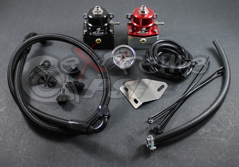 "Aeromotive ""A1000"" Complete Fuel Pressure Regulator Kit w/ Gauge: Mitsubishi EVO X"