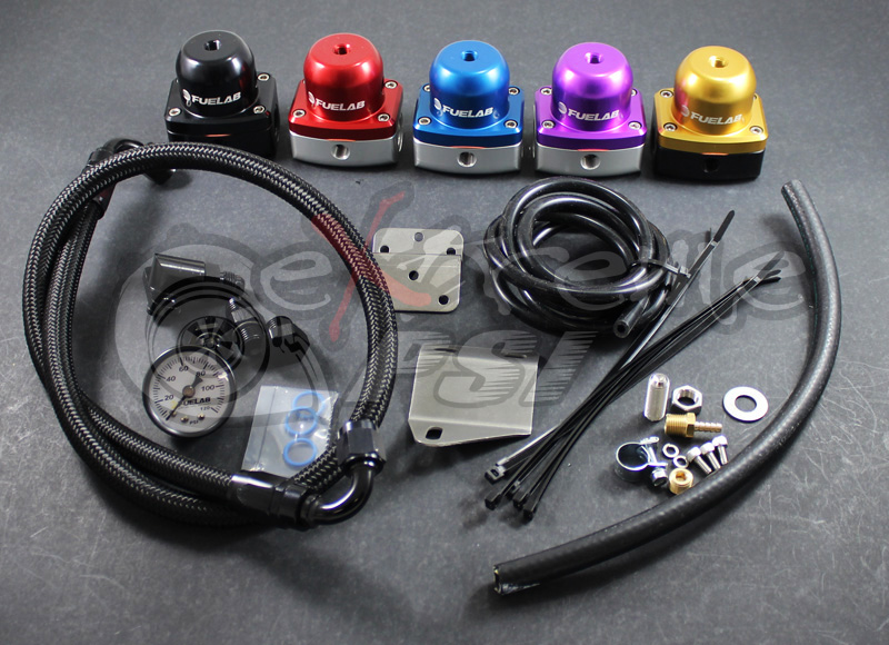 "Fuel Lab ""515"" Complete Fuel Pressure Regulator Kit w/ Gauge: Mitsubishi EVO X"