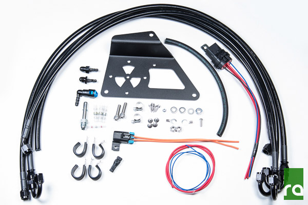 Radium Engineering Fuel Surge Install Kit: Mitsubishi Evolution X 2008-2015