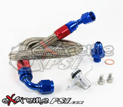 "Stainless Steel ""Fuel Feed"" Upgrade Kit (Filter to Fuel Rail): Mitsubishi Eclipse 90 - 99"