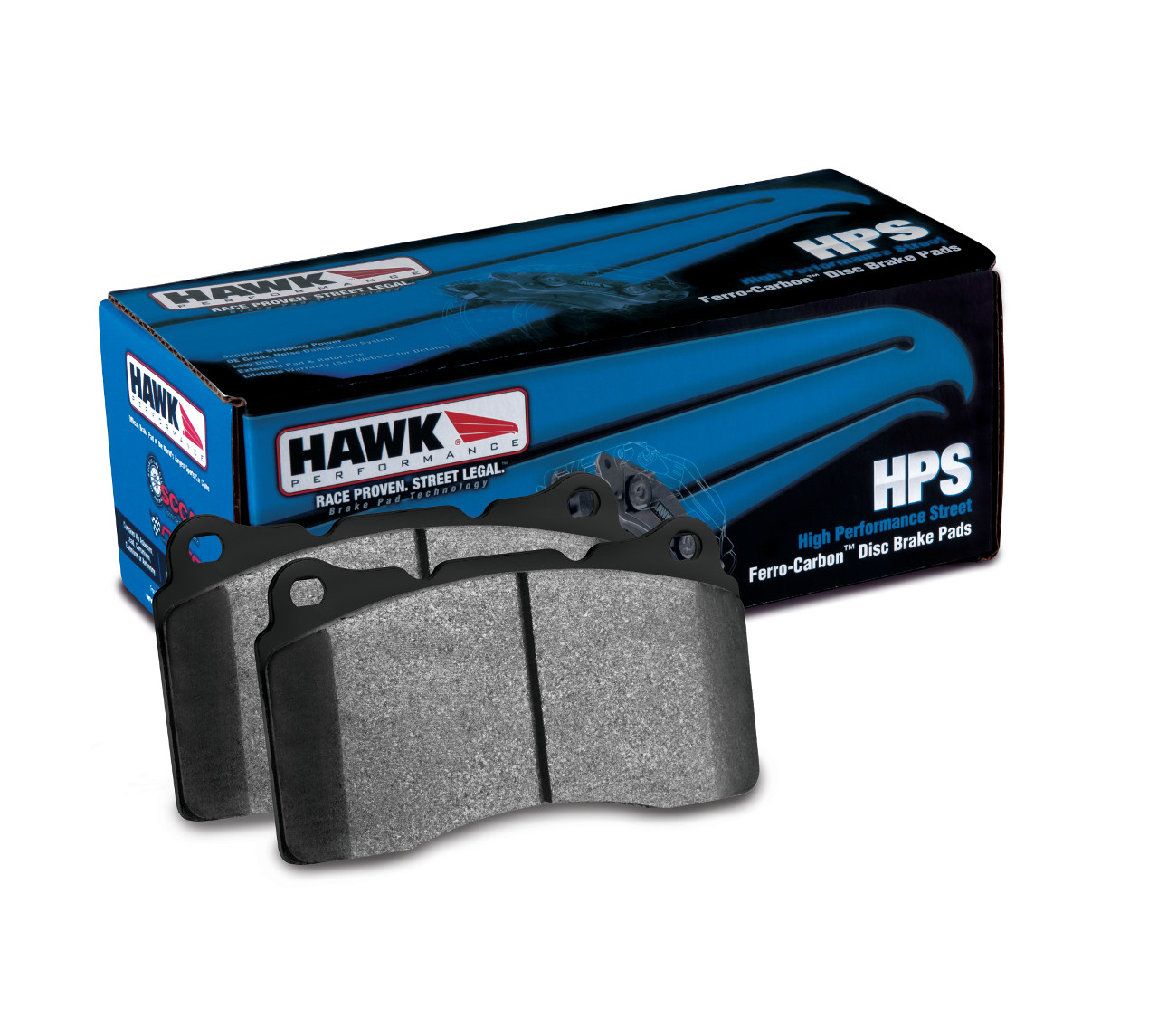 Hawk HPS Street Brake Pads : Mitsubishi Eclipse 6/1992-99 AWD (FRONT)