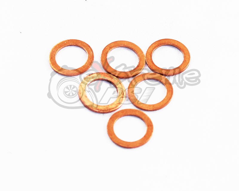 Copper Crush Washer: 14mm