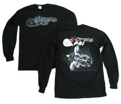 "Extreme PSI Pre-Shrunk ""Long-Sleeve"" Shirt ver. 2 (Black): Turbocharger CHRA *NEW DESIGN*"