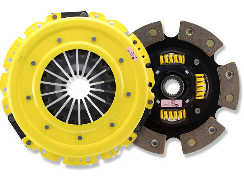 ACT (2100) Heavy Duty Sprung 6-Puck Clutch Kit (w/ OEM Release Bearing): Mitsubishi Eclipse 90-99