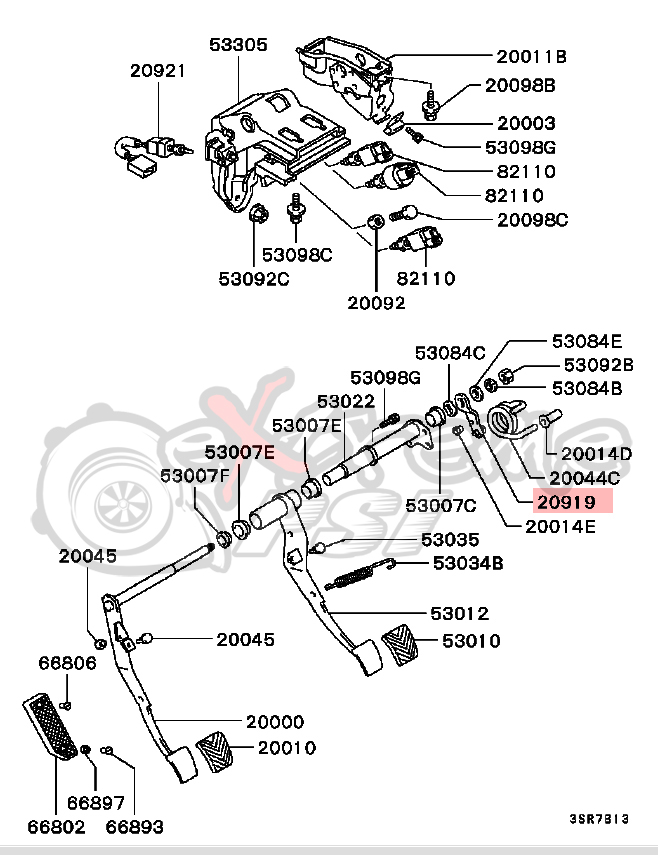 Mb on 2001 Mitsubishi Eclipse Parts Diagram