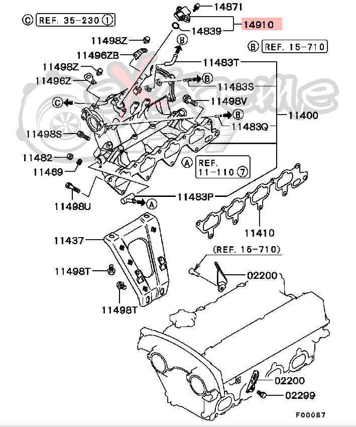 extreme psi your 1 source for in stock performance parts Saturn Ion Transmission Diagram oem map pressure sensor mitsubishi evo viii ix