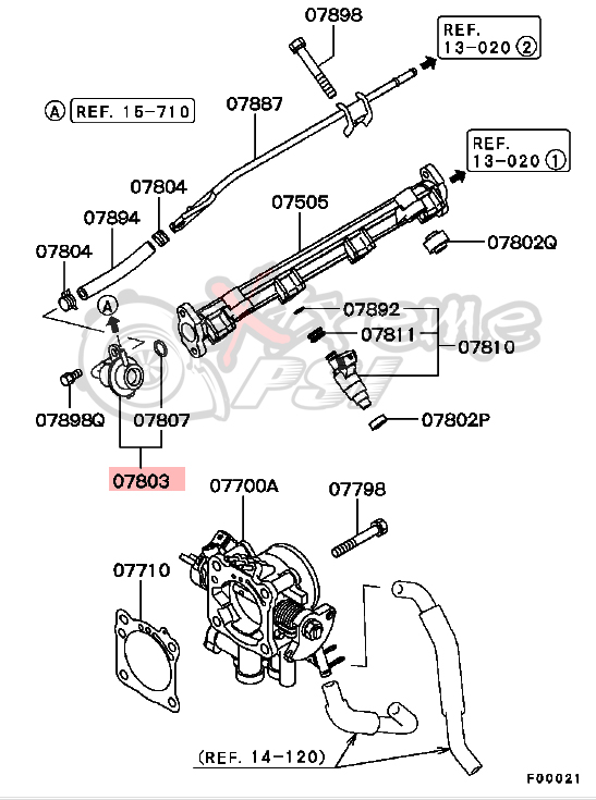 extreme psi your 1 source for in stock performance parts Ford Diesel Fuel System Diagram oem fuel pressure regulator mitsubishi lancer evo viii ix
