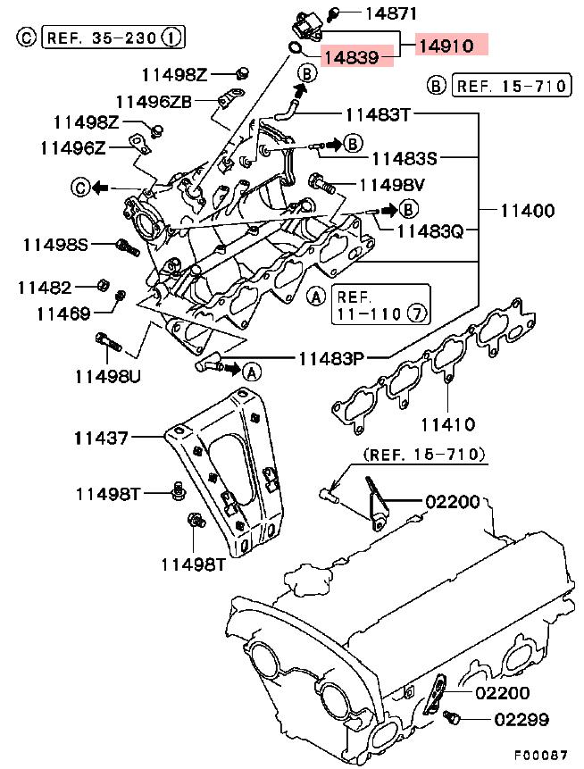 OEM Map Sensor O-Ring: Mitsubishi Eclipse Eclipse 95-99 / Lancer Evolution 8/9