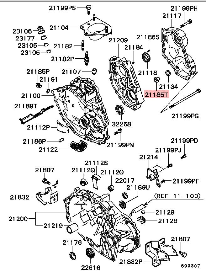 OEM Transmission Drain Plug (M18): Mitsubishi Eclipse 90-99