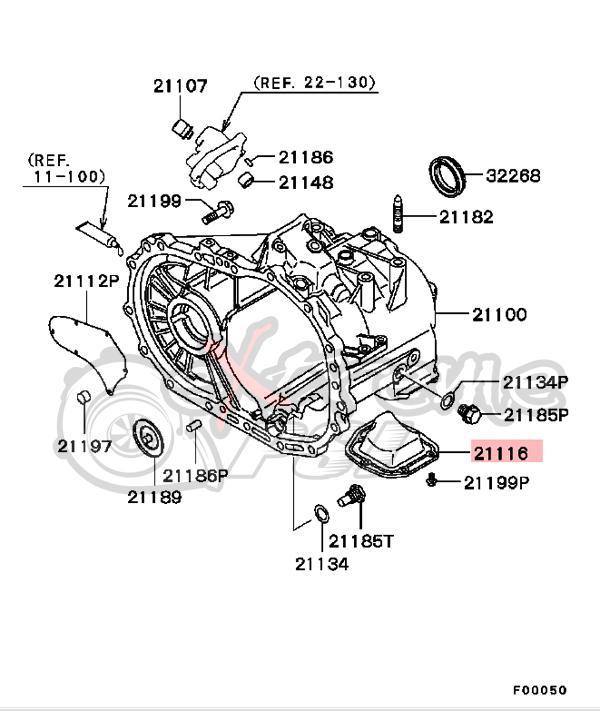 OEM Transmission Case Cover: Mitsubishi Lancer EVO VIII/IX