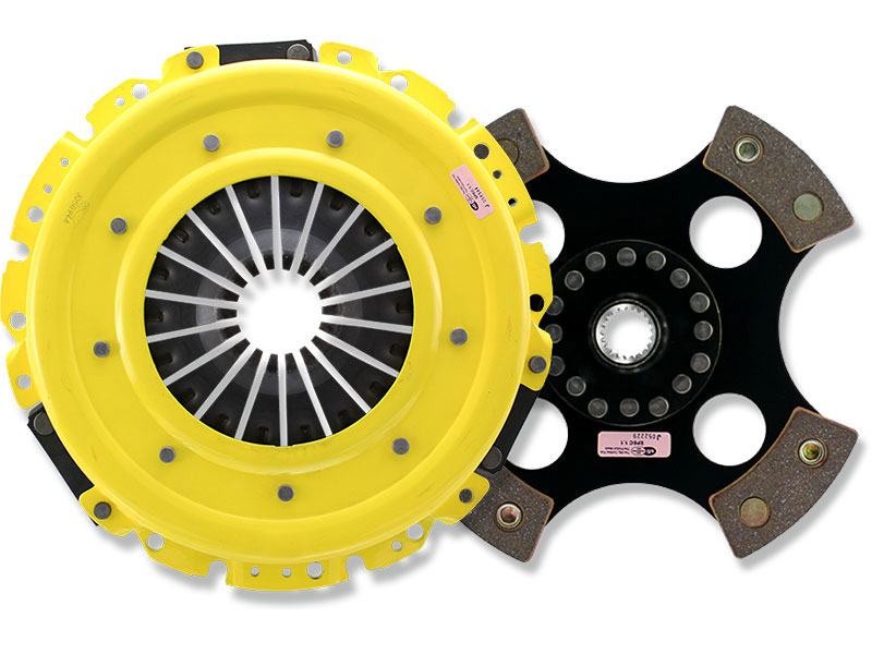 ACT Heavy-Duty (Monoloc) 4-Puck Clutch Kit (w/ OEM Release Bearing): Mitsubishi Lancer EVO VIII & IX