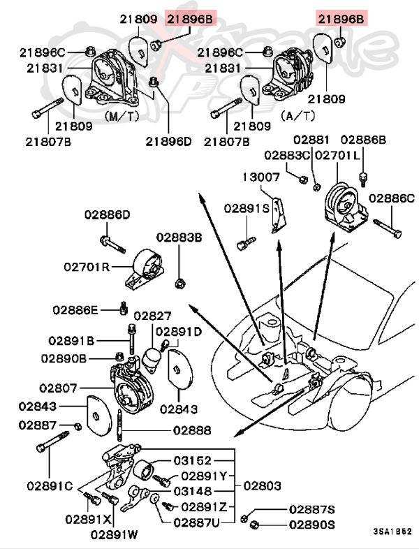 Mitsubishi Outlander 2003 Parts Diagram Transfer Case