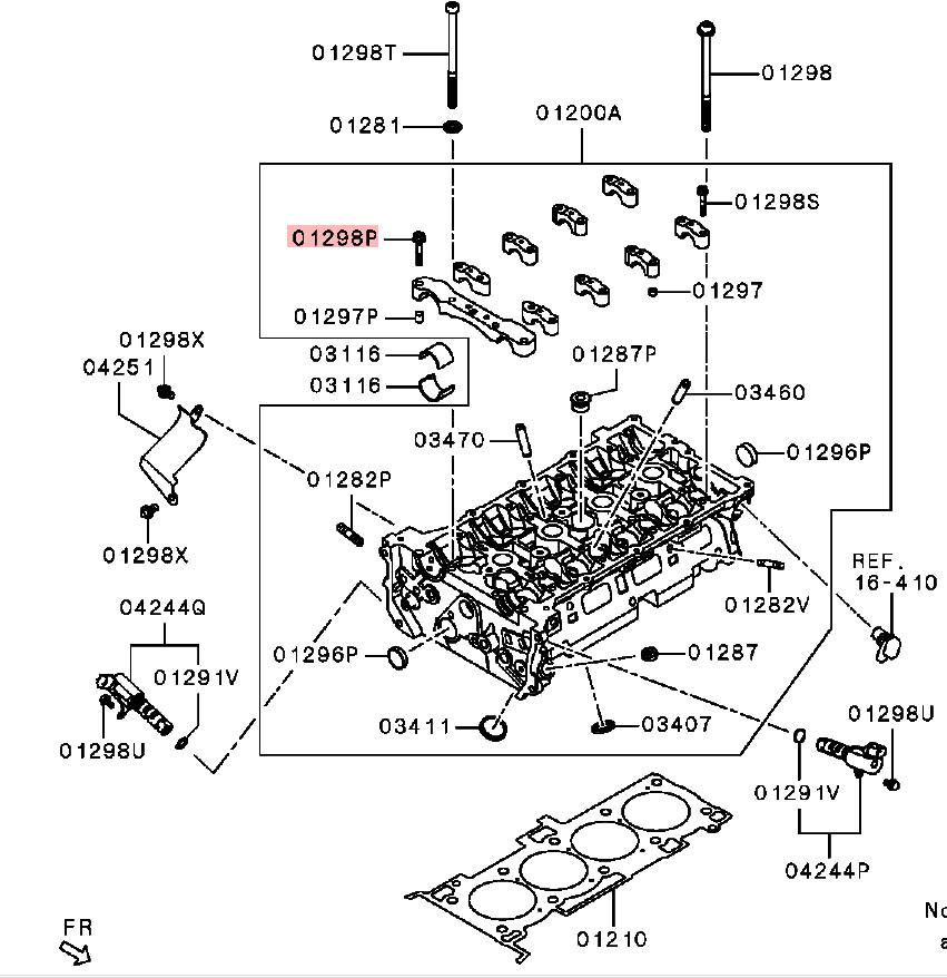OEM Cam Cap Bolt: Mitsubishi Evolution X 2008-2015