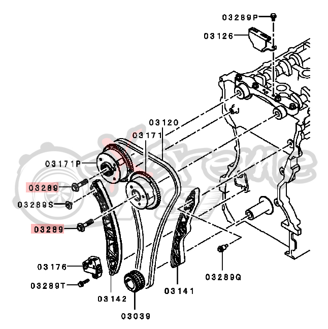 OEM Camgear Bolt: Mitsubishi EVO X