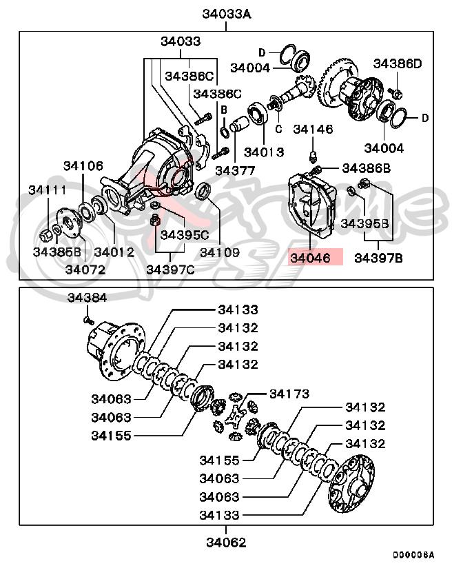OEM Rear Differential Cover: Mitsubishi Lancer EVO VIII & IX