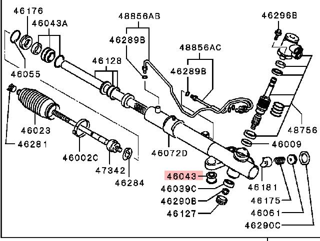 OEM Steering Gear Bushing: Mitsubishi Lancer EVO VIII & IX