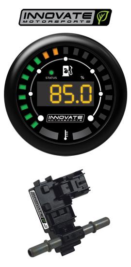 Innovate Motorsports MTX-D: Ethanol Content % & Fuel Temp Gauge Kit (Includes Ethanol Sensor)